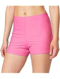 3da95a90547b6 Women s Basic High Waisted Boy Short Swim Bikini Tankini Bottom with Liner