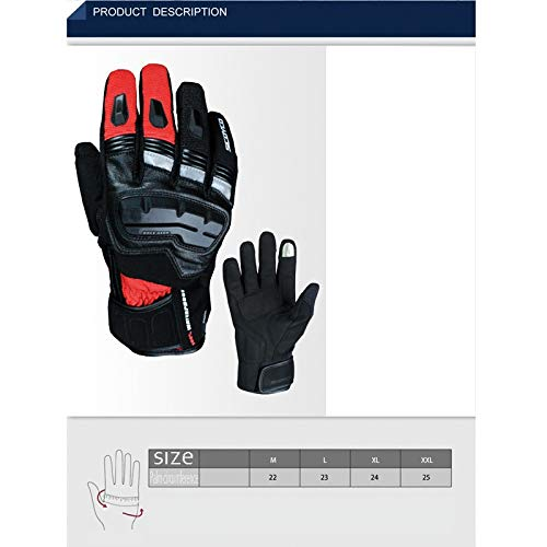 AINIYF Full Finger Motorcycle Gloves | Winter Outdoor Sports Smart Gloves Waterproof Touch Screen For Cold And Warm (Color : Red) by AINIYF (Image #1)