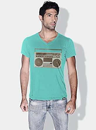 Creo Boombox Retro T-Shirts For Men - M, Green