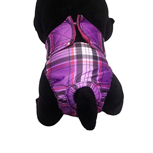 Dog Diapers - Made in USA - Purple Plaid Washable Dog Diaper for Incontinence, Housetraining and Dogs in Heat hot sale