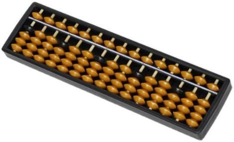 Sonline Outil Calcul plastique Abacus arithmetique Soroban Enfant 17 chiffres
