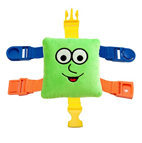 "BUCKLE TOY Mini ""Buster"" – Toddler Early Learning Basic Life Skills Children's Plush Travel Activity"