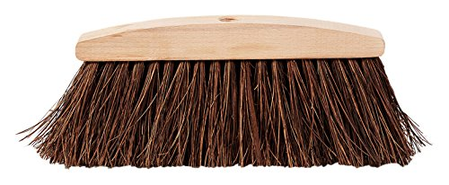 Perfect Eco Palm Fibre, Chestnut 0002, Broom and COCCIA Natural Wood, Eco-Friendly, 34x 5x 14cm
