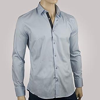 ozoa – Camisa para hombre azul Cielo Duo Antracita – Camisa ...