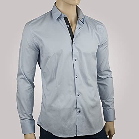 Ozoa-Camisa para hombre, color azul cielo duo-Carpeta CINTREE ...