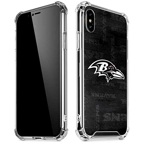 Skinit Baltimore Ravens Black & White iPhone XR Clear Case - Officially Licensed NFL Phone Case Clear - Transparent iPhone XR Cover