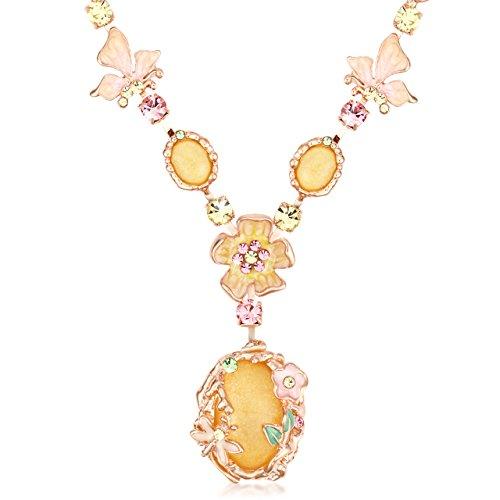 The Starry Night Bohemian Style Yellow Crystal Beautiful Flower Girl Femininity Noble Temperament (Roses Trellis Pull)