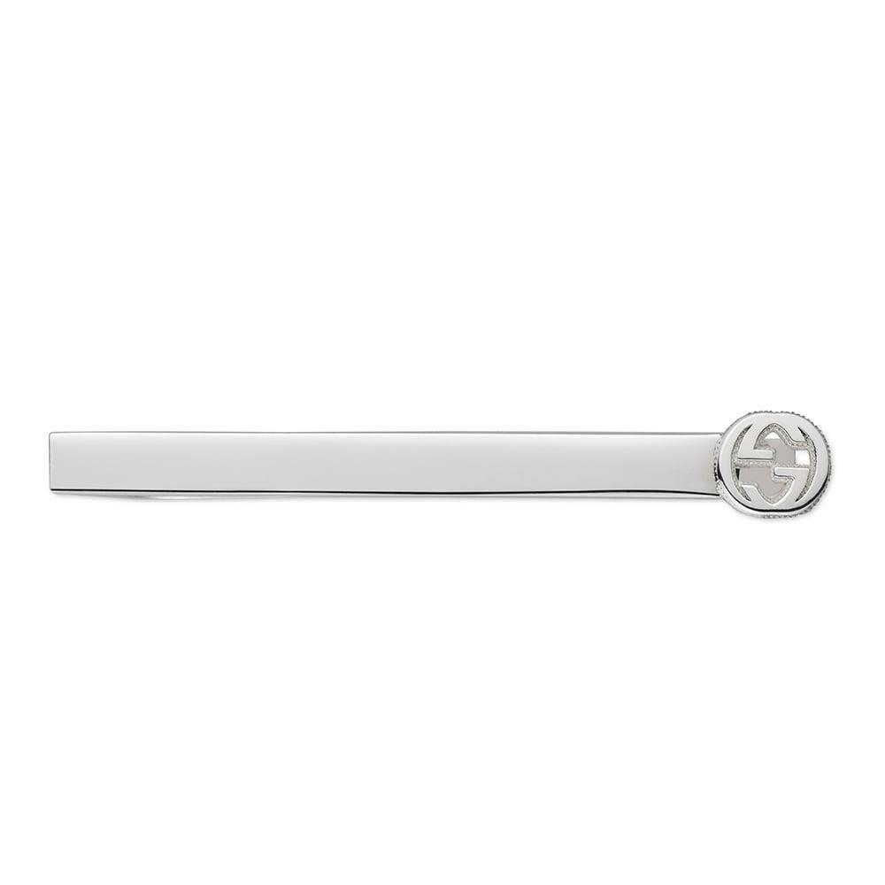 Gucci Clip de Corbata Interlocking YBF499061001: Amazon.es: Joyería