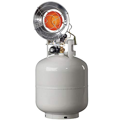 - Mr. Heater Tank-Top Propane Heater - Single Burner, 15,000 BTU, Electronic Ignition, Model# MH15TS