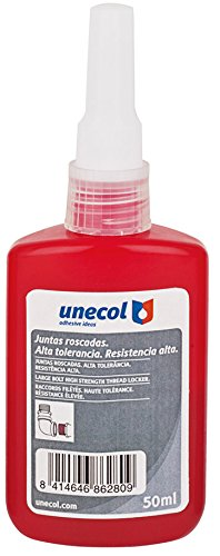 unecol 8628 – Adhesive Anaerobic 1277 for Joining Surgical Steel (Bottle, 50 ml Red