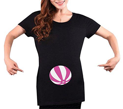 Corta Maternity T Casual Gravidanza Top Top Manica Camicie Donna Bluse Comoda Maglietta Comoda Rotondo Scollo Popolare Aivosen Prémaman Shirt zxwfPqvz0