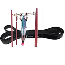 YouCanDoIt -Black- Pull up and Chin up assist bands -for P90-X Fitness Workouts-Resistant Exercise, Cross Fit, Power Lifting and Stretching-Guaranteed- (single band)
