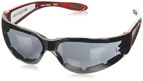 Bobster ESH221 Shield Sport Sunglasses,Red Frame/Smoked Lens,one size