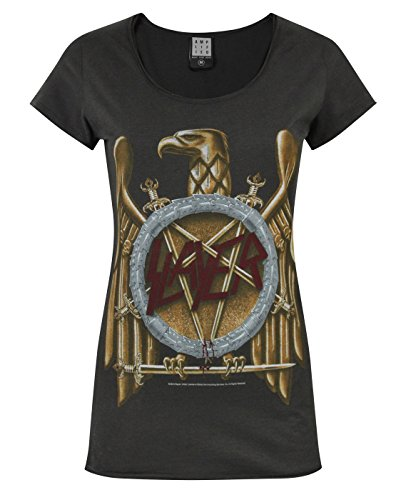 (Amplified Slayer Eagle Logo Women's T-Shirt (L))
