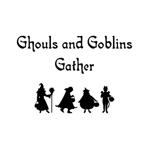 Vinyl Wall Art Decal - Ghouls and Goblins Gather - 23