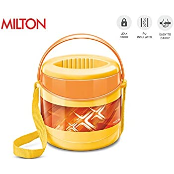 b44f1a4a9e2c Amazon.com: Milton Mega Lunch Box, White, 2.2 L: Kitchen & Dining