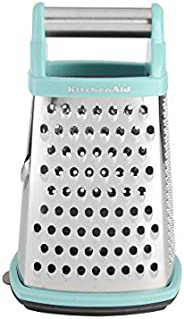 KitchenAid KN300OSOBA Gourmet 4-Sided Stainless Steel Box Grater with Detachable Storage Container