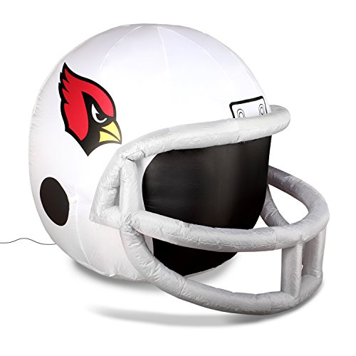 Arizona Cardinals Night Light (NFL Arizona Cardinals Team Inflatable Lawn Helmet, White, One Size)