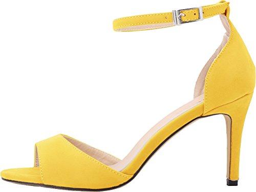 mujer CFP Zapatos con amarillo tacón aCwRxqW7va