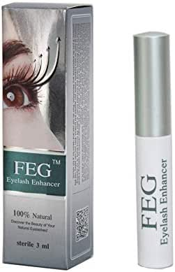 FEG Eyelash Enhancer Growth Serum. 100% Natural, Highest Quality Irritation Free Ingredients Used. Enhance Your Eye Lash Growth With This Highly Rated Rapid Eyelash Growth Serum 3ml; 100% Authentic