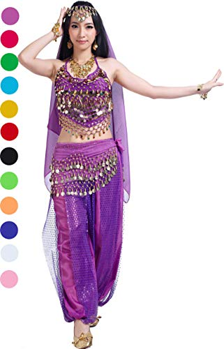 Halloween Carnival Costumes mit Belly Dance Pants Tops Hip Scarf for Women for $<!--$28.99-->