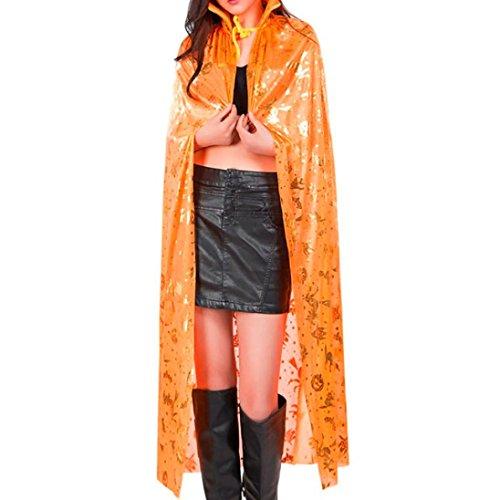 Longra ♥♥Abrigo de las mujeres de Cos Abrigo de Wicca Abrigo medieval del cabo Halloween Elven Witch Party naranja
