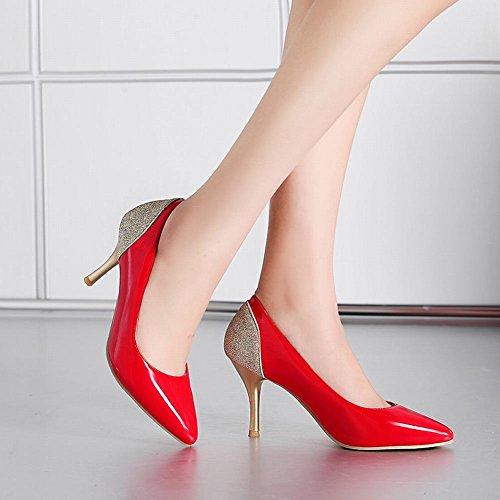 Mee Shoes Damen high heels mehrfarbig Geschlossen Pumps Rot