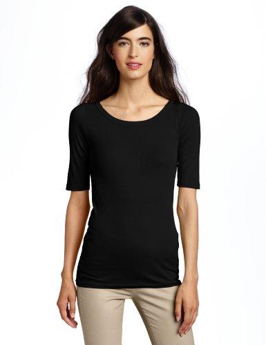 Michael Stars Women's Scoop-Neck T-Shirt, Black, One - All T-shirt Cotton Star
