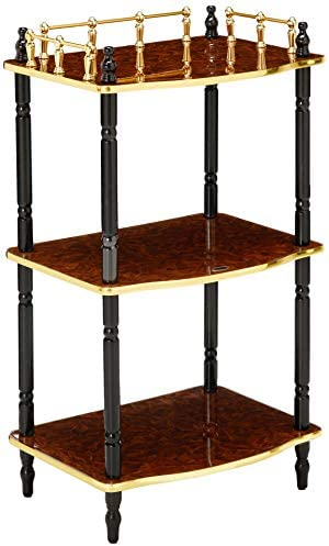 Uniquewise 3-Tier Telephone, Small Book Shelf, Accent Side and End Table