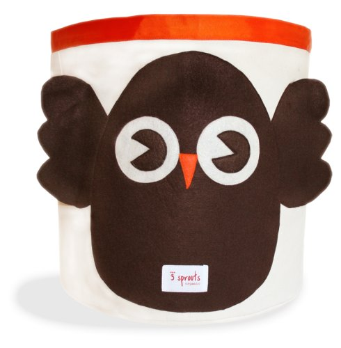 3 Sprouts Storage Bin - Owl 3 Sprouts - BabySecurity Storage Bin Owl Brown