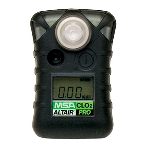 MSA Safety 10076717 ALTAIR PRO Single Gas Detector, Chlorine Dioxide (CLO2), Low Alarm 0.1 PPM, High Alarm 0.3 PPM