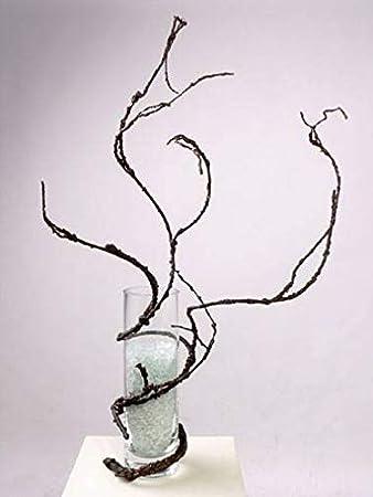 artplants.de Rama sacacorchos Artificial, marrón, 110cm - Ramificación sintética - Planta Decorativa