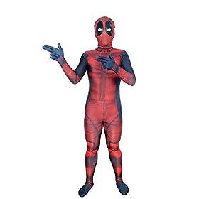 - 41lzskYylEL - AOVEI Kids Onesie Spandex Mask Cosplay 3D Costume Party Movies Halloween Bodysuits
