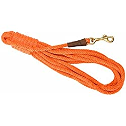 Mendota Products Trainer 50 Check Cord Dog Lead, Orange, 3/8-Inch x 50-Feet