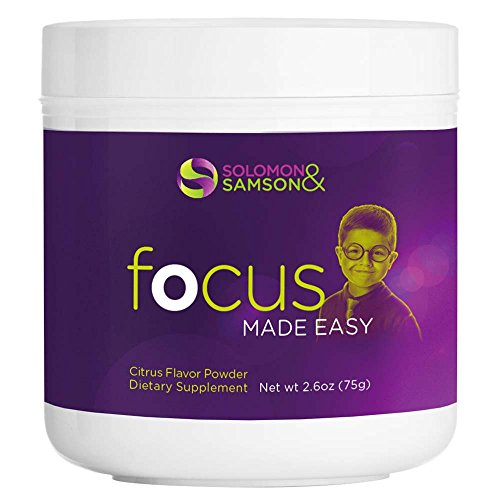 Focus Made Easy: Attention Boosting Vitamins for Kids - Brain Support Supplement with Omega 3-6-9, 50 Servings