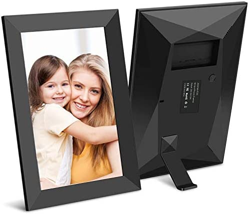 Jeemak Digital Picture Frame 8 inch WiFi Photo Frame FHD IPS Touch Screen Portrait or Landscape Stand Auto-Rotate Share Photos and Videos via App at Anytime and Anywhere