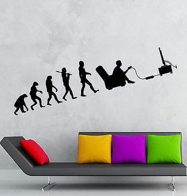 Wall Decal Gamer Evolution Video Game Kids Room Vinyl Sticker Art Mural VS2538