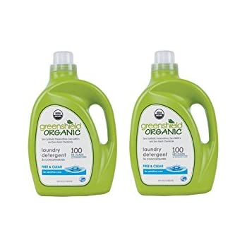 GreenShield Laundry Detergent, Free & Clear Org, 100 Ounce (Pack of 2)