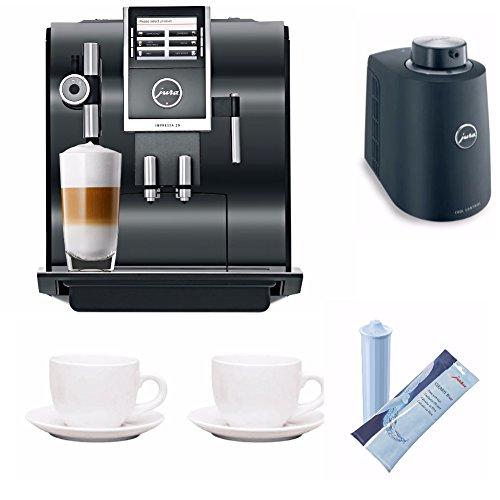 Jura Automatic Impressa Z9 One Touch TFT Coffee Machine + Jura Milk Container, Cartridge and 2 Tiara Cups