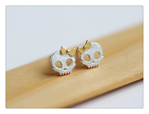 925 Sterling Silver Tiny Skull Stud Earrings - Cartilage Stud Earrings - Skull Jewelry - Tiny Stud Earrings, tiny skull earrings, Tiny Skull -