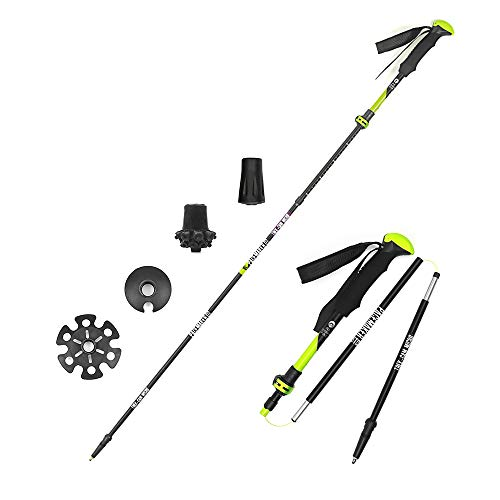 Pacemaker Stix Camera Monopod Trek-cam Micro (5 Section) for Walking & Hiking & Travel. Ultralight Aluminum Adjustable Height & Telescoping Flip Lock/Folding Pole, with replaceable tungsten tips