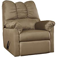 Flash Furniture Signature Design by Ashley Darcy Rocker Recliner in Mocha Microfiber