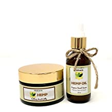 Hemp Soothing Muscle Jelly for Muscular Pain Relief & Hemp Oil overnight Facial Serum