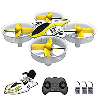 Mini Drone RC Nano Quadcopter for Kids and Beginners, RC Helicopter Plane with Auto Hovering, 3D Flip, Headless Mode and 3 Extra Batteries Toys for Boys and Girls … (Yellow)
