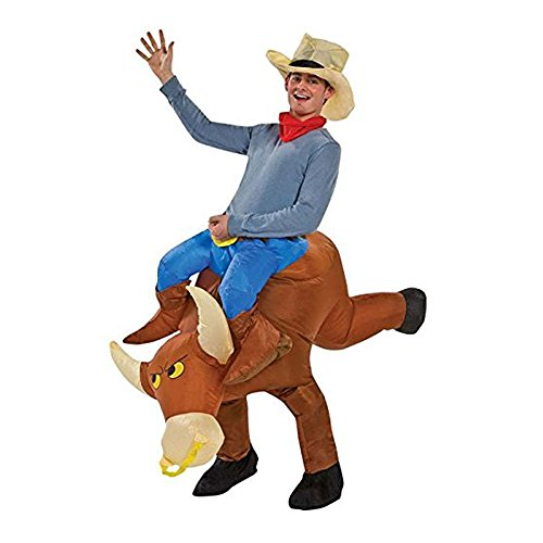 [TOLOCO Inflatable Halloween Costume (Bull)] (Inflatable Bull Rider Halloween Costume)