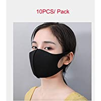 3 Layers Thicken Face Mask Washable Mask 3D Breathable Reuseable Face Protection 10PCS (Black)