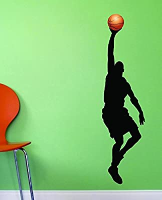 20 x 40 Design with Vinyl JER 1023 3Basketball Lay Up Basket Score Win Vinyl Wall Decal