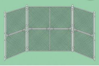 Prefabricated Baseball / Softball Backstop Measurements: 10ft w x 10ft h / 2 (5 ft) Wings by SportsPlay