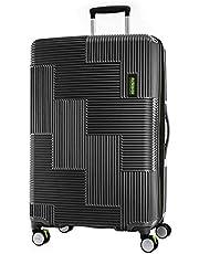 American Tourister Velton Hard Side Spinner Luggage, Black/Lime Green, 81 Centimeters