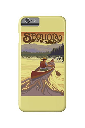 Sequoia National Park - Canoe Scene (iPhone 6 Plus Cell Phone Case, Slim Barely There) - Sequoia Canoe